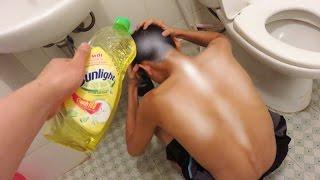 NTN - Trò Đùa Gội Đầu Với Nước Rửa Bát Sunlight - Shampoo Prank