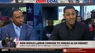 FIRST TAKE on ESPN   How Would LeBron compare to Jordan as an owner