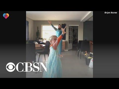 Un padre se viste de Frozen para demostrar a su hijo que no debe tener complejos