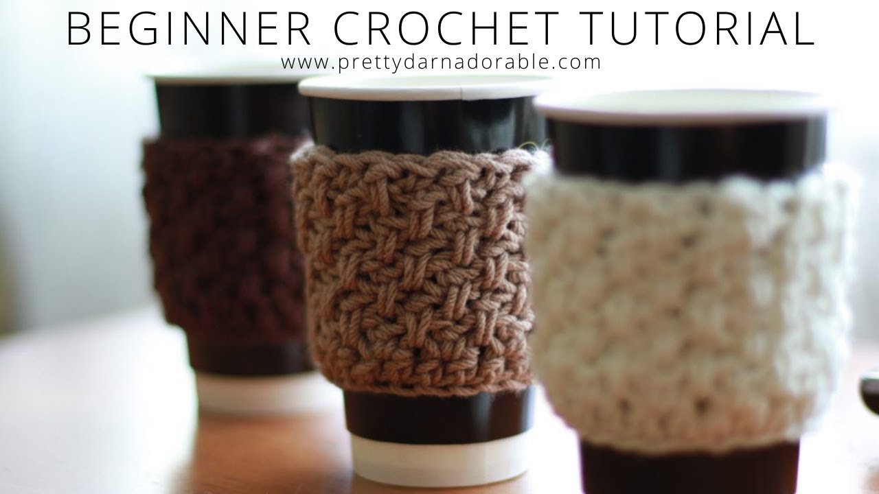 How To Crochet A Cup Cozy Coffee Cozy Youtube