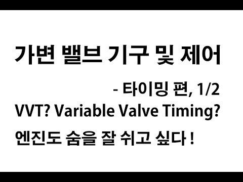 가변 밸브 기구 및 제어 - 타이밍, 1/2 (Variable Valve Timing and Control - 1/2)