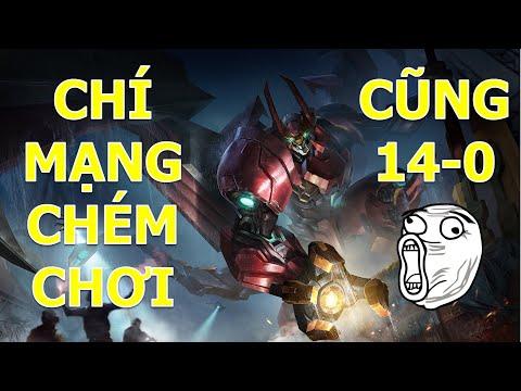 Troll game cuối mùa Maloch Thánh Kiếm + Song đao Chém nhẹ team bạn thôi cũng hốt 14-0