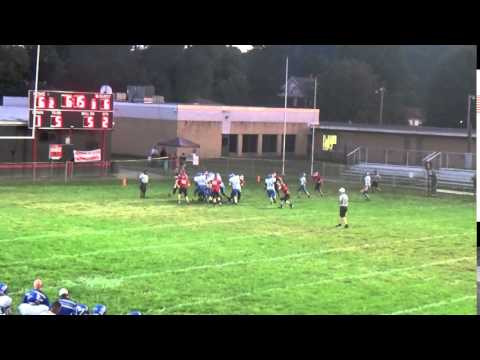 Logan Middle David Early pushes foward on QB sneak for TD