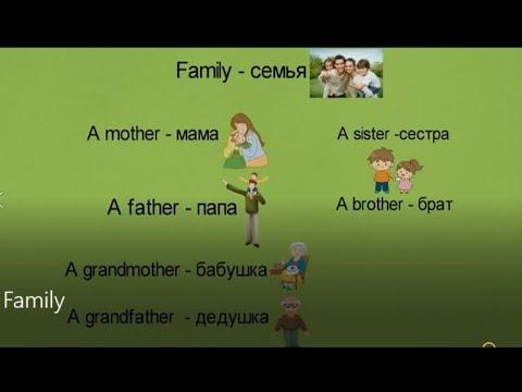 ПОЗНАВАТЕЛЬНЫЙ УРОК НА АНГЛИЙСКОМ ЯЗЫКЕ! ТЕМА  СЕМЬЯ. Family.Учим слова.