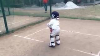 Shayan Jamal | Practise Session at the age of 3. Youngest Cricket in the World.