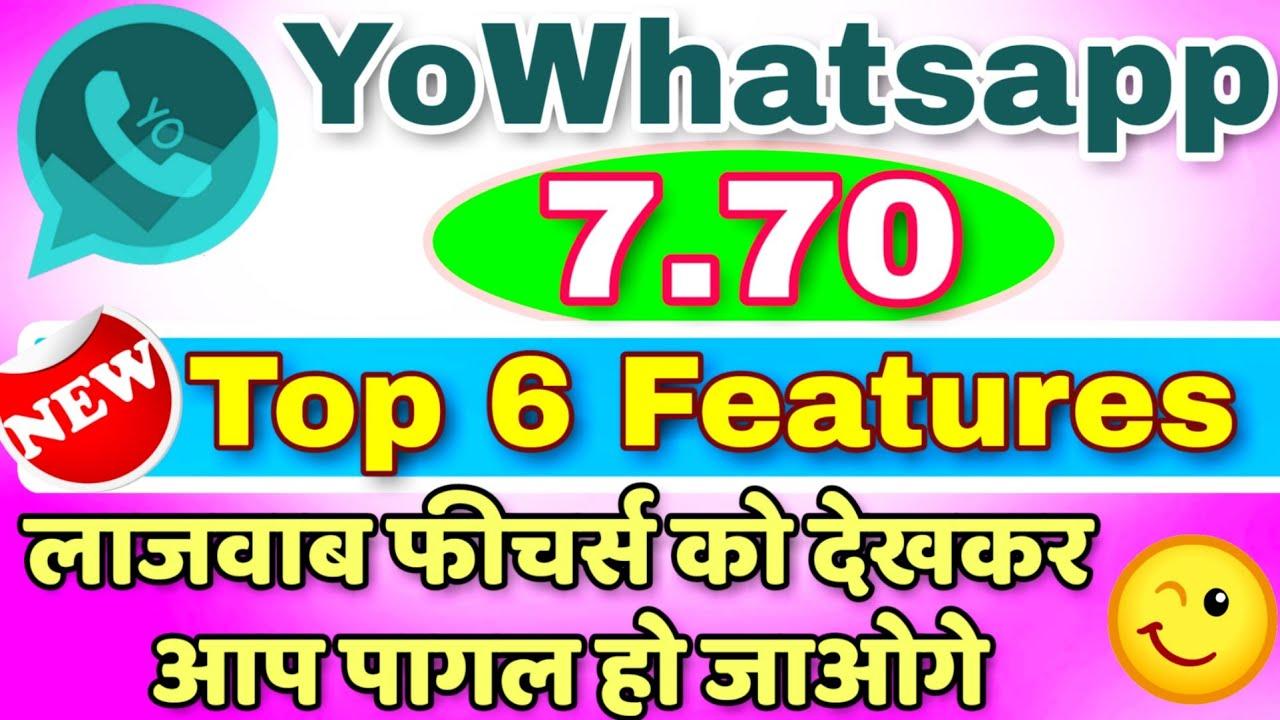 YOWHATSAPP 7.70 GRATUIT