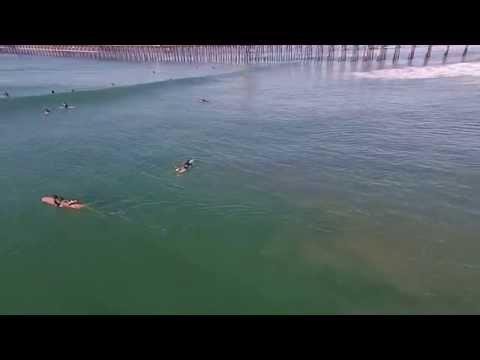 Surfing Oceanside from DJI Phantom Drone