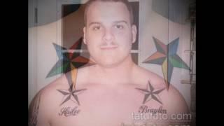 Фото тату звезды на ключице - рисунки готовых татуировок