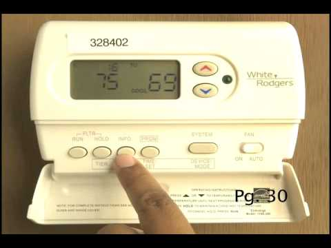 how to program your new thermostat youtube rh youtube com white rodgers model 1f88-300 manual White & Rodgers 1F85-277