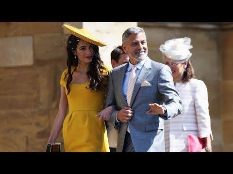 George and Amal Clooney, Oprah arrive at royal wedding