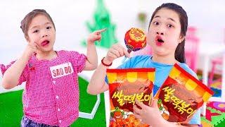 Sao Đỏ Nhí Lanh Chanh ❤ Mẹo Đem Đồ Ăn Vào Lớp Mới - Trang Vlog