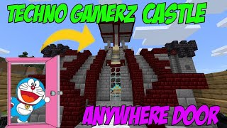 I Visited Techno Gamerz Castle in Minecraft | Anywhere Door | ATank Gaming @TechnoGamerz
