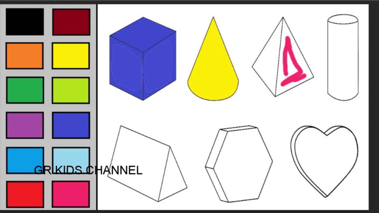 Coloring Geometric Patterns Shapes For Kids