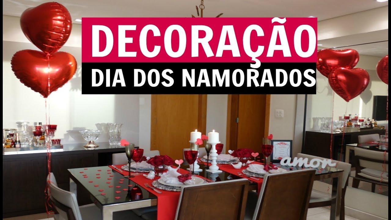 DECORA u00c7ÃO DIA DOS NAMORADOS JANTAR YouTube # Decoração De Restaurante Para Dia Dos Namorados