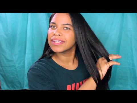 curly-to-straight-hair-using-coconut-oil-|-no-frizz-|-bone-straight-flat-iron-press-on-healthy-hair