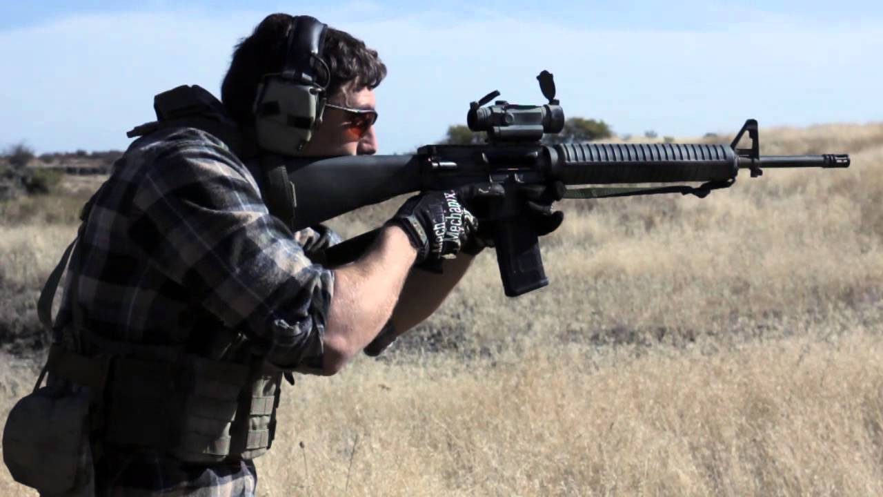 M16A4 clone hammered pair, moving and shooting - YouTube M16 Acog