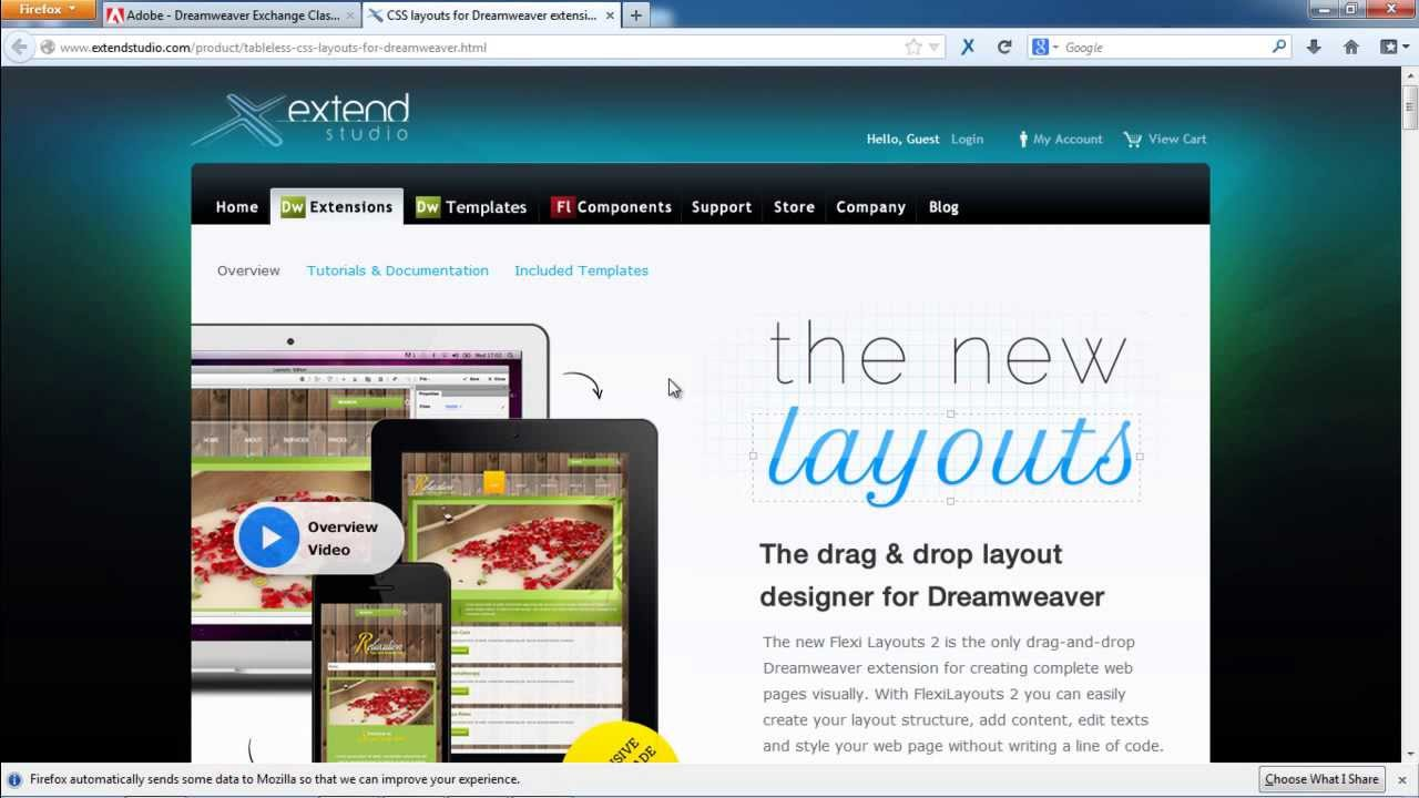 10 free adobe dreamweaver extensions for designer & developer.