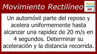 MOVIMIENTO RECTILÍNEO UNIFORMEMENTE ACELERADO - Problema 1