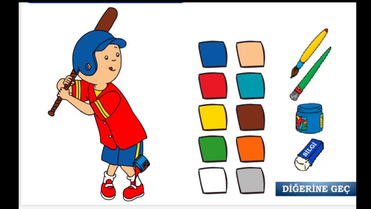 Caillou coloring games online - Caillou Games Caillou Coloring Caillou Videos Caillou English Caillou Coloring Game