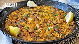 Spanish Vegan Paella With Portobello Mushrooms & Roasted Garlic