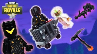 Lego Fortnite - (Omega Skin, Thermal AR, Omega Axe And Shopping Cart)