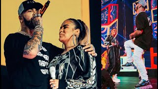 KAROL G & ANUEL AA cantan JUNTOS en Los Angeles: CHINA | Calibash 2020.
