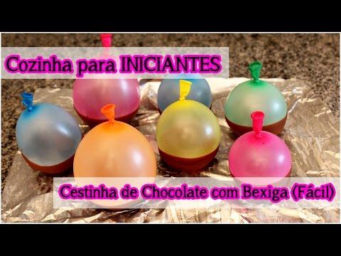 Cestinha de Chocolate com Bexiga (Fácil): Cozinha para Iniciantes | Dicas para Festas