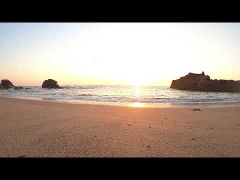 GoPro 7 Black FHD - Sunset at Sao Paio beach relaxing sound