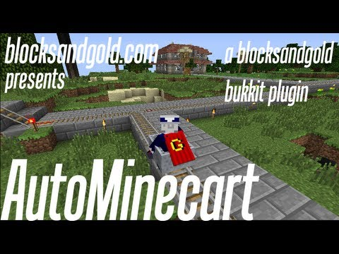 AutoMinecart : Move Fast With Freeminecarts Horses And Boats (bukkit Plugin For Minecraft)