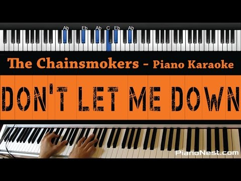The Chainsmokers - Don't Let Me Down - Piano...