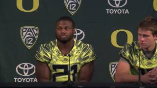 Oregon's Royce Freeman says Justin Herbert has become a more confident leader
