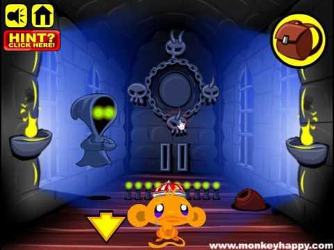 Мультик игра Счастливая обезьянка: Побег (Monkey Go Happy Escape - Stage 53)