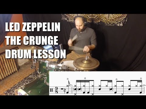 Led Zeppelin  The Crunge  Three Strategy Drum Lesson