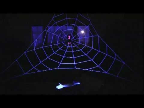 black lights for giant halloween spider web wwwspiderwebmannet - Giant Halloween Spider