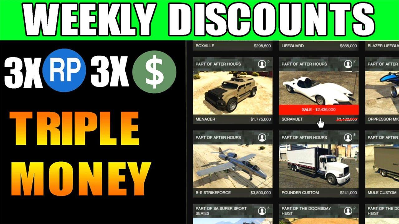 GTA Online: Weekly Discounts & 3X Money DETAILS | AIR FREIGHT ON 2X MONEY | GTA ONLINE WEEKLY UPDATE