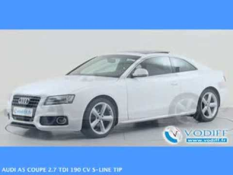 vodiff audi occasion alsace audi a5 coupe 2 7 tdi 190 cv s line tip youtube. Black Bedroom Furniture Sets. Home Design Ideas