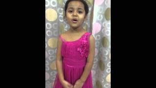 Har kisi ko nahi milta by 5 years old gifted child Wonder Girl Ayat