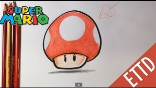 How to Draw Super Mario Bros. Mushroom - Easy Things To Draw