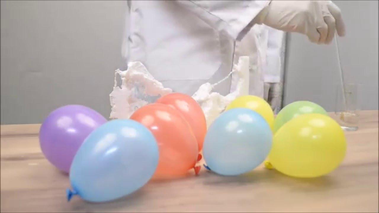Ацетон + пенопласт и взрывные шарики/Acetone + styrofoam and blasting balls