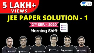 JEE Mains 2020: Paper Solution Shift - 1   JEE Physics   JEE Chemistry   JEE Maths   Unacademy JEE