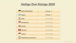 Heilige Drei Könige 2020 - Datum - Feiertage Deutschland 2020