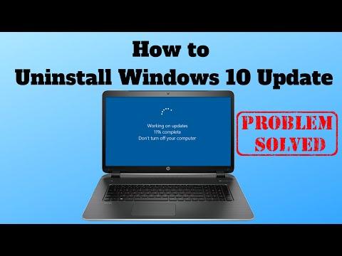 How To Uninstall Windows 10 Update