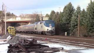 HD Amtrak 686 meets Pan Am POED at the state line 1-19-17