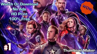How To Watch Avengers Endgame For Free Online
