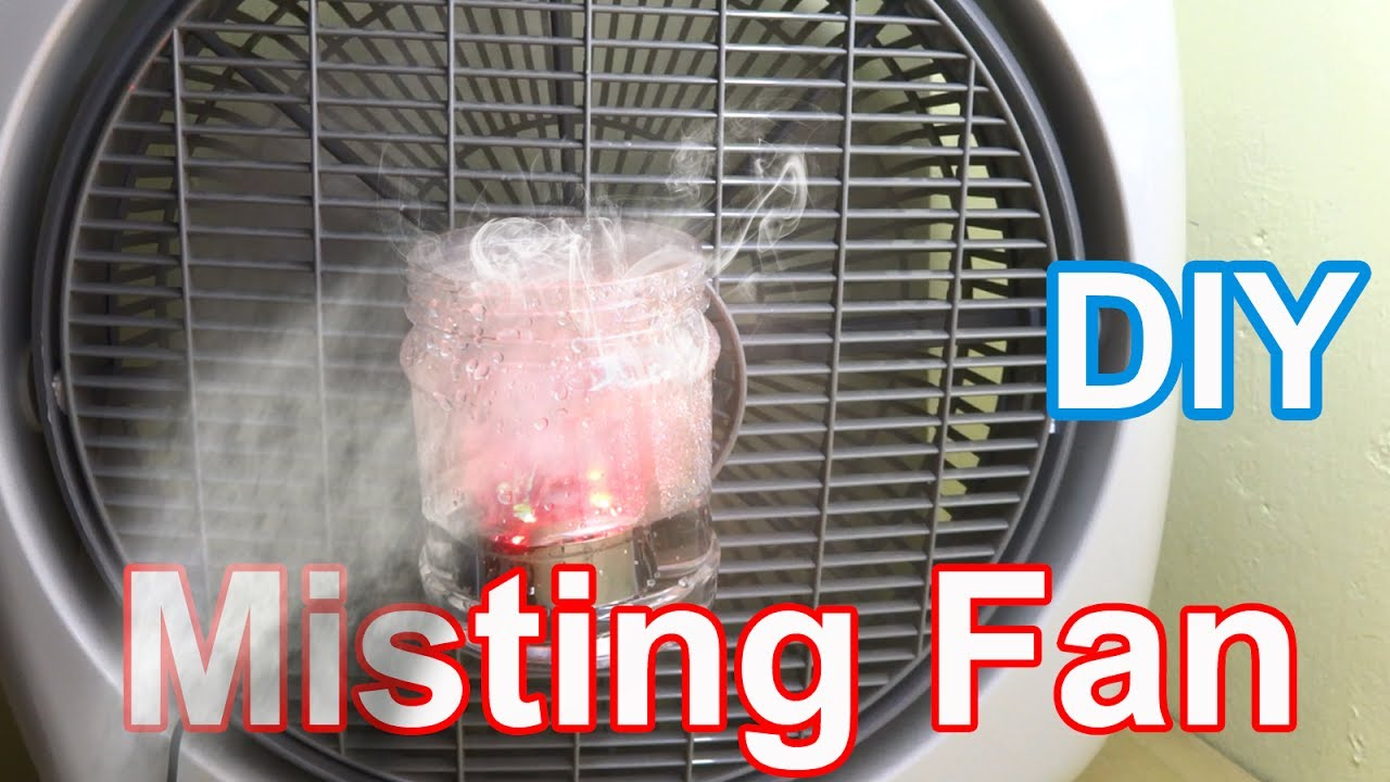 Air Conditioner Fan >> Make Misting Fan at home - Diy air conditioner fan very simple - YouTube