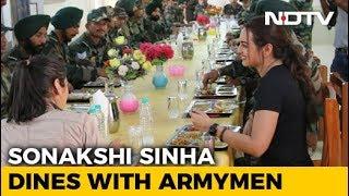 Jai Jawan: Sonakshi Sinha Shares Meal With Armymen
