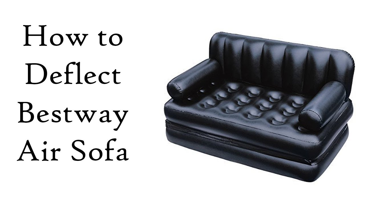 How To Close Bestway 5 In 1 Inflatable Sofa Air Bed Couch Youtube