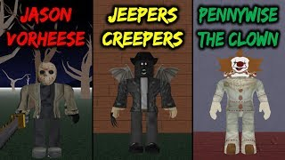 Jason Vorhees VS Jeepers Creepers VS Pennywise! (Roblox)