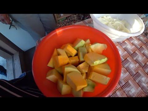 #Узбекистан научил меня есть тыкву. САЛАТ из лука и тыквы.