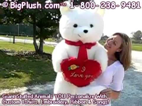 Giant Valentine Teddy Bear I Love You Heart For Valentines Day Or Any Day 3  U0026 1/2 Feet Tall   YouTube